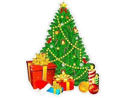 vinilo navide 241 o quot 193 rbol de navidad con regalos quot 01973
