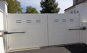 Portail Battant 5 Metres : ouverture portail electrique portail en alu sfrcegetel ~ Nature-et-papiers.com Idées de Décoration