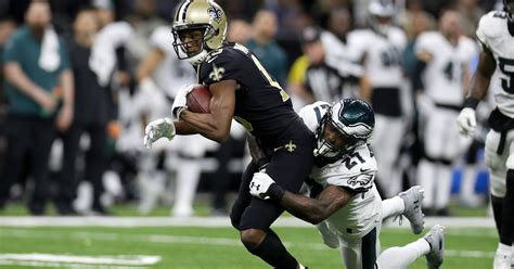 nfl playoff saints eliminate eagles conference