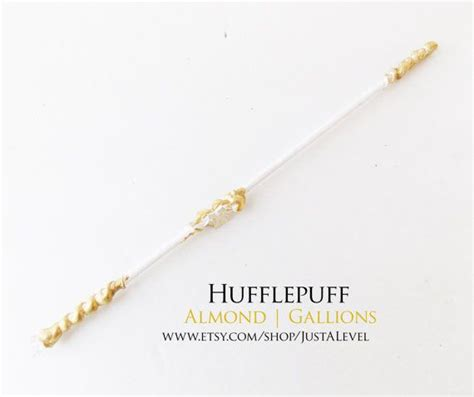 winter gold harry potter inspired wand hufflepuff