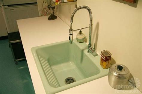 Drop In Laundry Sink With Washboard by Gorgeous Blue Tile Bathroom Vintage Style From Scratch