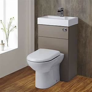 Milano Combination Toilet Basin Unit Stone Grey
