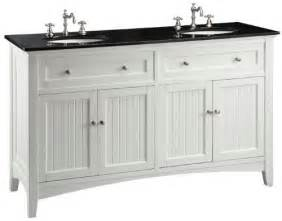 adelina 60 inch cottage white sink bathroom vanity black galaxy granite counter top