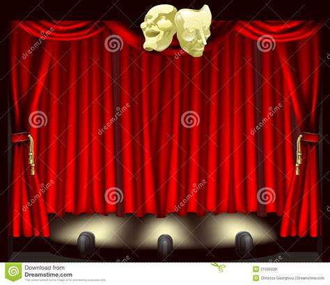 theatre stage  masks royalty  stock images image