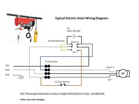 Stahl Crane Hoist Wiring Diagram by Electric Hoist Wiring Diagram Harbor Freight Attic