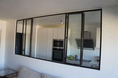 cuisine atelier artiste cloison pour cuisine cloison verre metal cloisons