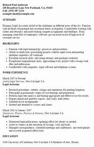 Legal assistant resume template best design tips for Legal assistant resume template
