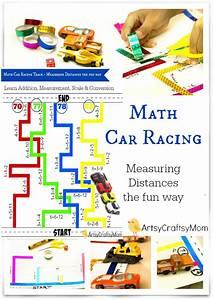 Math Car Racing Track - Measuring Distances the fun way