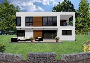 Häuser Im Bauhausstil : fertighaus futuristisches haus im bauhausstil mit loggia auch als kfw effizienzhaus ~ Watch28wear.com Haus und Dekorationen