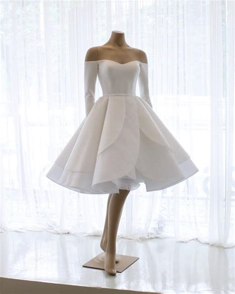 short mini wedding dresses ball gowns  shoulder