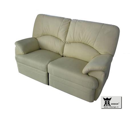 Divano Recliner - divano relax manuale con 2 recliner ecopelle della linea