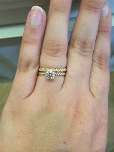 picked a wedding band unique yellow gold twist bands With when may a wedding ring be worn when preparing food