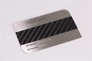 Brushed stainless steel carbon fiber business cards for Carbon fiber business card