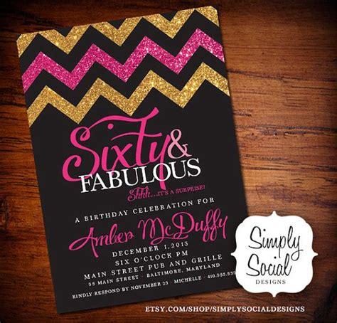 glitter glam surprise  birthday party invitation