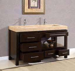 60 quot king modern double trough sink bathroom vanity