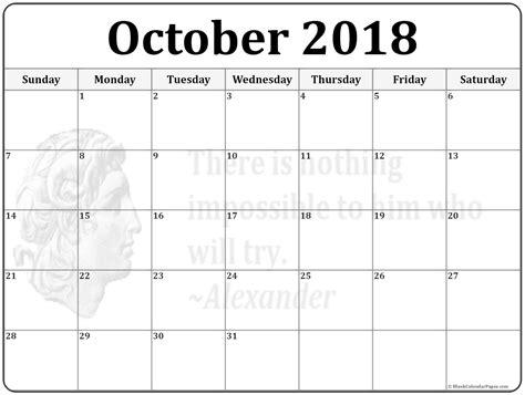 template calendar 2018 october 2018 calendar 56 templates of 2018 printable calendars