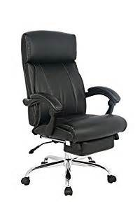 viva office reclining office chair high back bonded leather chair with footrest