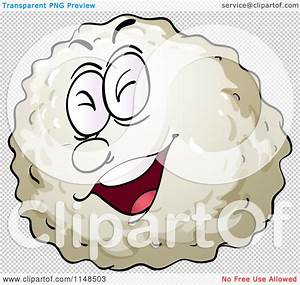 Cartoon Of A Laughing White Blood Cell Or Virus Bacteria