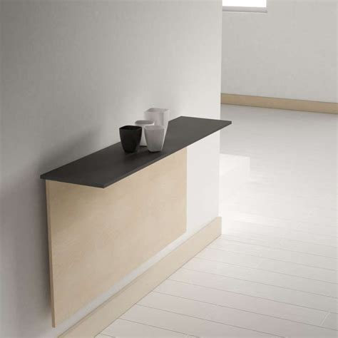 table murale cuisine table pliante murale contemporaine click 4 pieds
