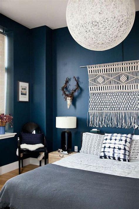 tapisserie originale chambre idée déco chambre adulte la tenture murale tissée s