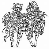 Glitter Force Coloring Pages Printable Drawing Sheets Colouring Lucky Precure Characters Anime Cure Kelsey Candy Pretty Template Smile Printables Popular sketch template