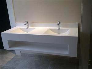 corian meubles baeten With meuble salle de bain en corian