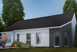 Maison Plain Pied En L : plan maison individuelle 3 chambres 75 habitat concept ~ Melissatoandfro.com Idées de Décoration