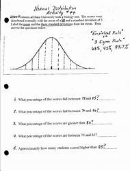 Solved  Worksheet  Normal Distribution Curve Incubation Ti together with Best Normal Distribution   ideas and images on Bing   Find what you as well  further Normal Distribution Worksheet   YouTube in addition normal distribution worksheet Creation of zscores worksheet additionally normal distribution worksheet answer key   PROSHEET as well  likewise Standard Deviation Percents Packet   M414 Chapter 3 Name Worksheet besides  besides 36 Ira Required Minimum Distribution Worksheet furthermore Normal distribution worksheet 12 7 answer key also Statistics 1 – Normal Distribution Exam Questions besides normal distribution worksheet   Siteraven moreover Worksheet 8 4 Name S ling Distributions  Proportions and as well 21 Inspirational normal Distribution Worksheet   t honda as well Standard normal distribution and the empirical rule  from ck12 org. on normal distribution worksheet with answers
