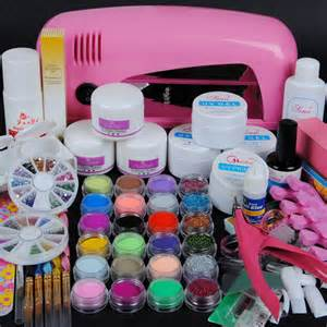 Professional nail decoration set acrylic kit or