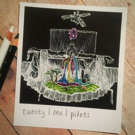 kitchen sink twenty one pilots album self titled print of polaroid drawing by thisismyshopbye 9579