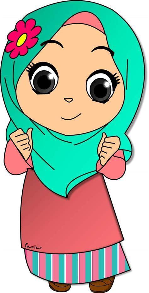 Gambar Hijab Kartun Cadar Gambar Kartun Muslimah Bercadar Pakaian