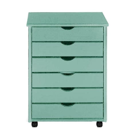 Storage Cart With Drawers And Wheels by Home Decorators Collection Stanton 26 In H 6 Drawer Wide