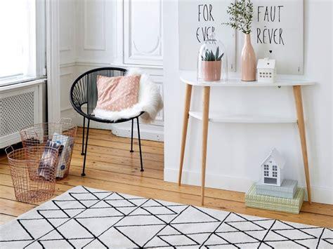 ou trouver  tapis noir  blanc joli place