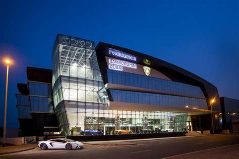 lamborghini headquarters inside look at world s largest lamborghini showroom in