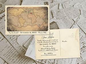 50 wedding invitation postcards destination vintage With early invitations destination wedding