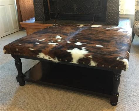 Cowhide Coffee Table by Custom Build Cowhide Ottoman Coffee Table Foot Stool