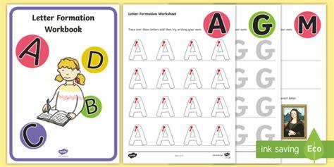 uppercase   letter formation worksheets letter