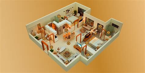 Luxury Apartment Plans by 2 Bed Luxury Apartments 1350 Sq Ft 3d Floor Plan