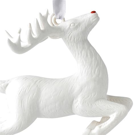 figural reindeer christmas ornament  wedgwood