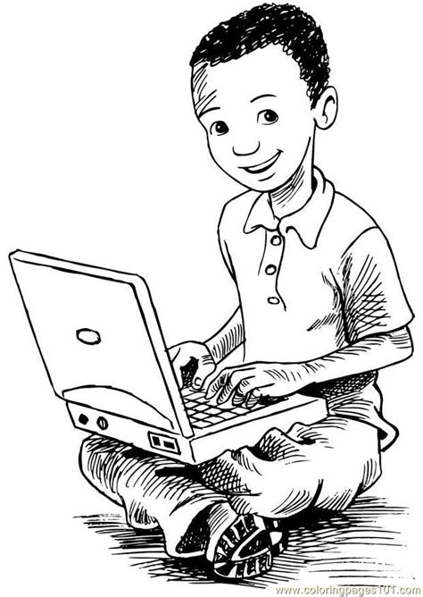 kleurplaat computer  coloring page  computer coloring pages coloringpagescom