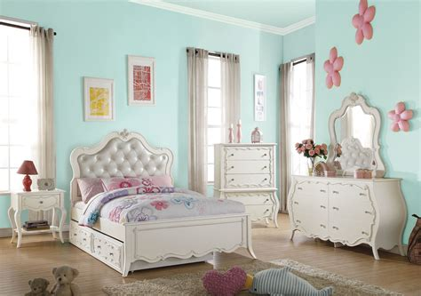 youth bedroom sets 30505 edalene youth bedroom set collection victorian style 13896 | 30505 edalene youth bedroom set collection victorian style pearl white finish