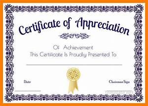 Sample Content Of Certificate Of Appreciation Certificate Of Appreciation Template Word Doc Planner