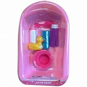 Accessoires Pour Poupon : baignoire et accessoires love bebe king jouet ~ Premium-room.com Idées de Décoration