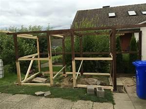 Gerüst Selber Bauen : der aufbau des selbst gebauten kaminholzunterstand holz ~ Articles-book.com Haus und Dekorationen