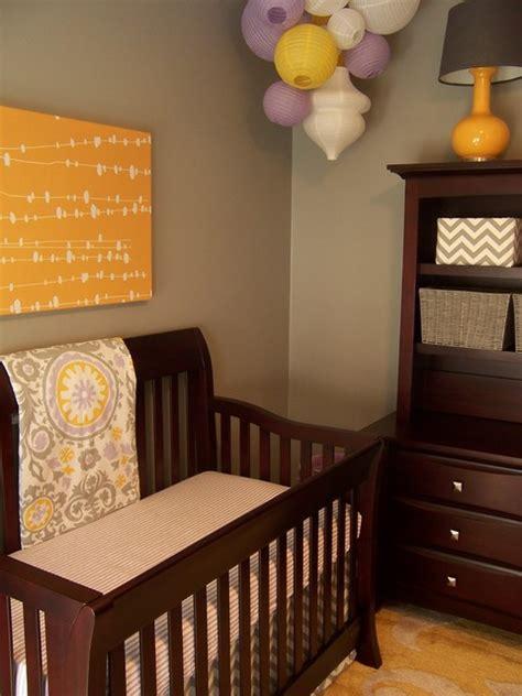 gray yellow  lavender nursery contemporary nursery