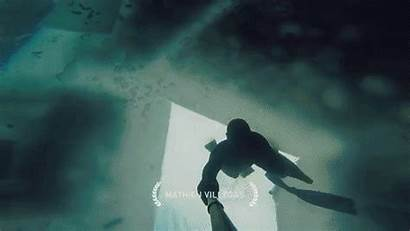 Amazing Dive Into Lake Frozen Ice Water