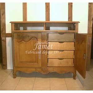 Meuble Hifi Bois : petit meuble tv hifi sculpt en bois meubles jamet ~ Voncanada.com Idées de Décoration