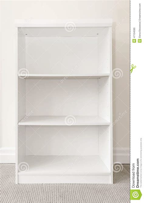 empty white bookshelf stock photo image