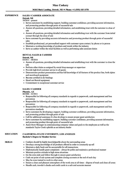 Cashier resume bullet points. Cashier Resume Examples. 2019-01-23