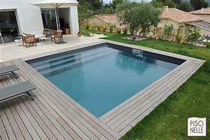 Mini Piscine Enterrée : une piscine carr e piscinelle face une maison moderne ~ Preciouscoupons.com Idées de Décoration